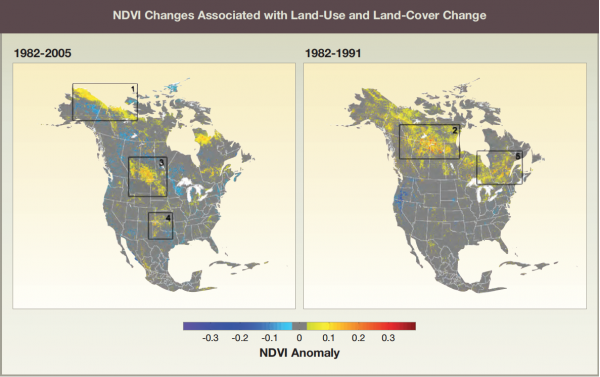 NDVI Changes Associated with Land-Use and Land-Cover Change