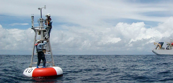 Measuring carbon dioxide storage by the ocean