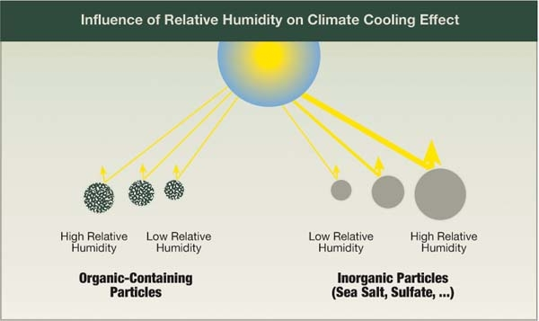 Influence of Relative Humidity on Climate Cooling Effect