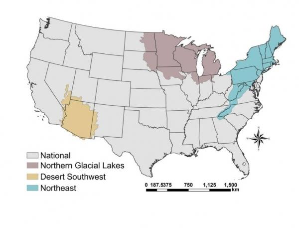 Map for Fish Habitat Assessment