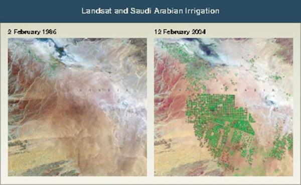 Landsat and Saudi Arabian Irrigation