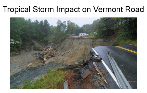 Tropical Storm Impact on Vermont Road