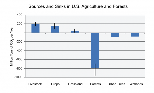 Sources and Sinks in U.S. Agriculture and Forests