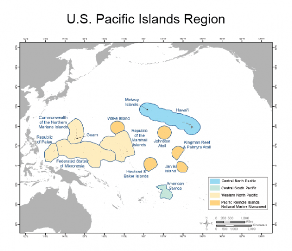 Us Pacific Islands Region Globalchangegov - Pacific-us-map
