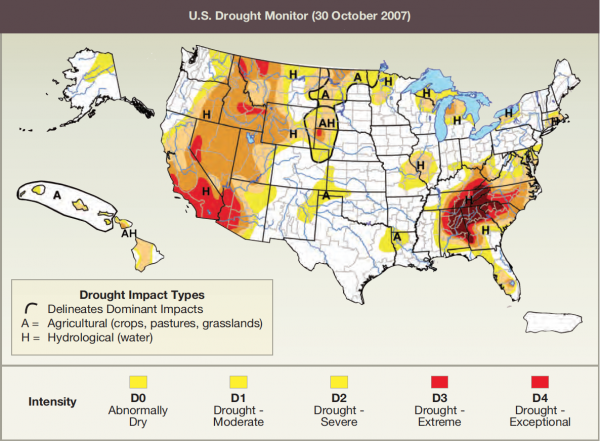 U.S. Drought Monitor (30 October 2007)