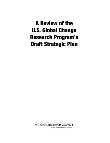 A Review of the U.S. Global Change Research Program's Strategic Plan