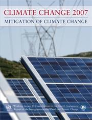 IPCC Climate Change 2007: Mitigation of Climate Change