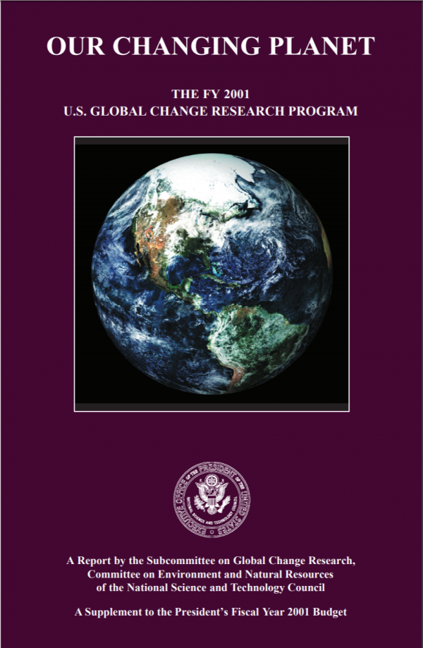 Our Changing Planet Fiscal Year 2001 Cover